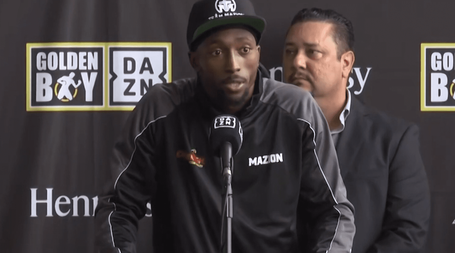 Travell Mazion during an interview. | Photo: YouTube/ BoxingWorldWeekly
