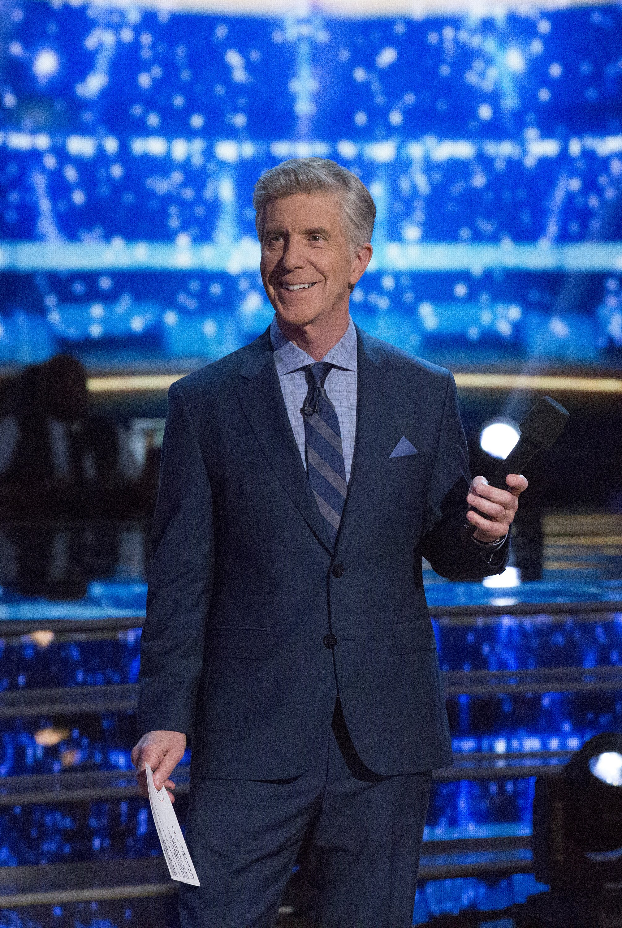 """Tom Bergeron hosts a semi-final episode of season 26 of """"Dancing With the Stars"""" on May 14, 2018 
