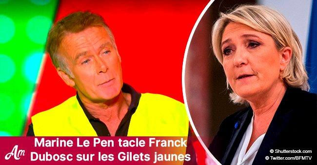 Marine Le Pen attaque Franck Dubosc après avoir porté le gilet jaune