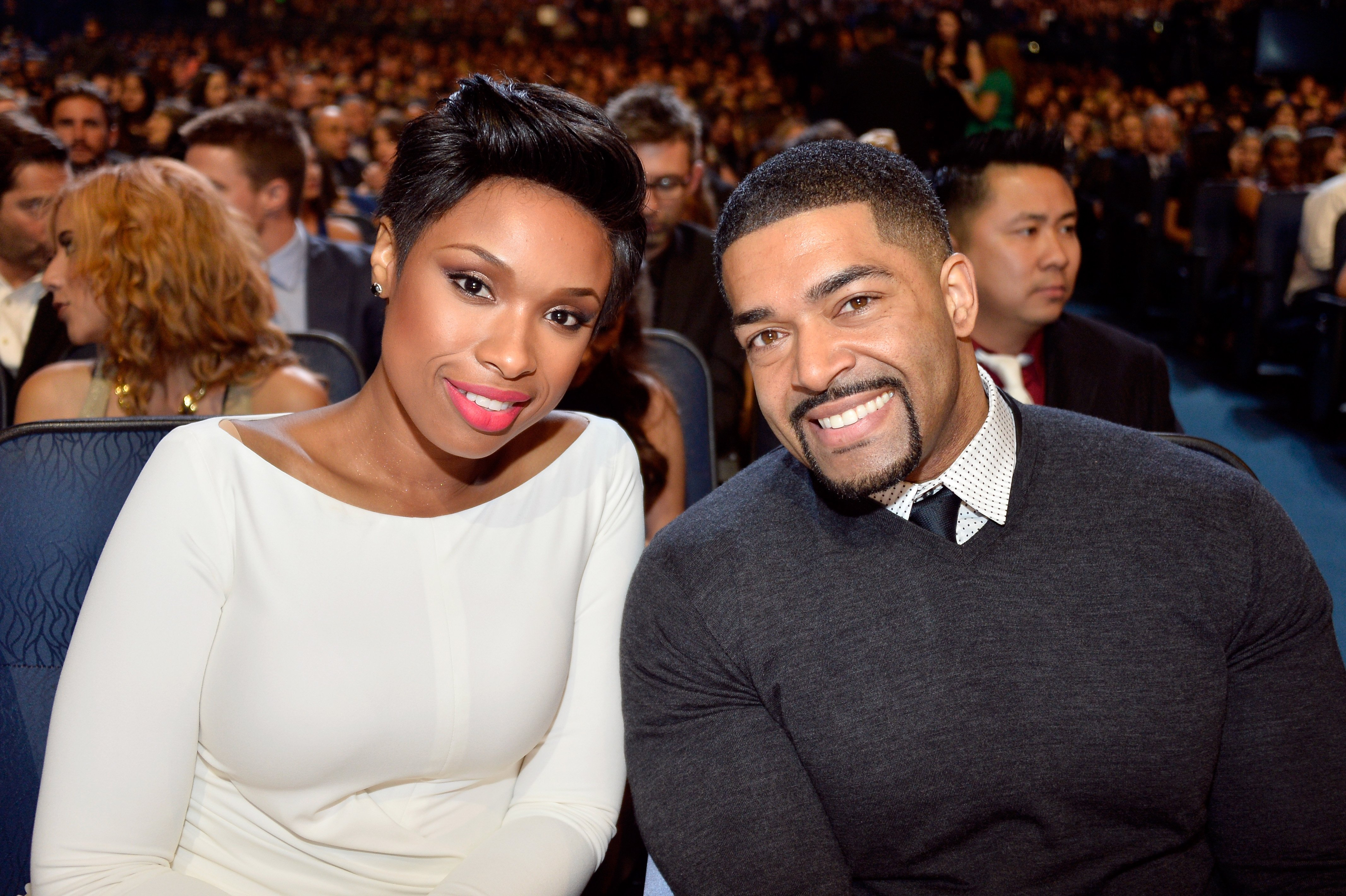 Jennifer Hudson and David Otunga at The 40th Annual People's Choice Awards on January 8, 2014 in Los Angeles | Getty Images