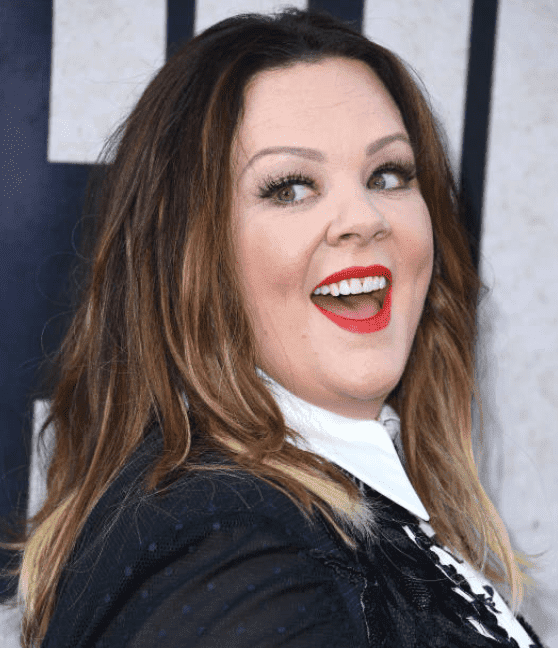 "Melissa McCarthy poses for cameras as arrived at the premiere of ""The Kitchen"" at TCL Chinese Theatre on August 05, 2019 