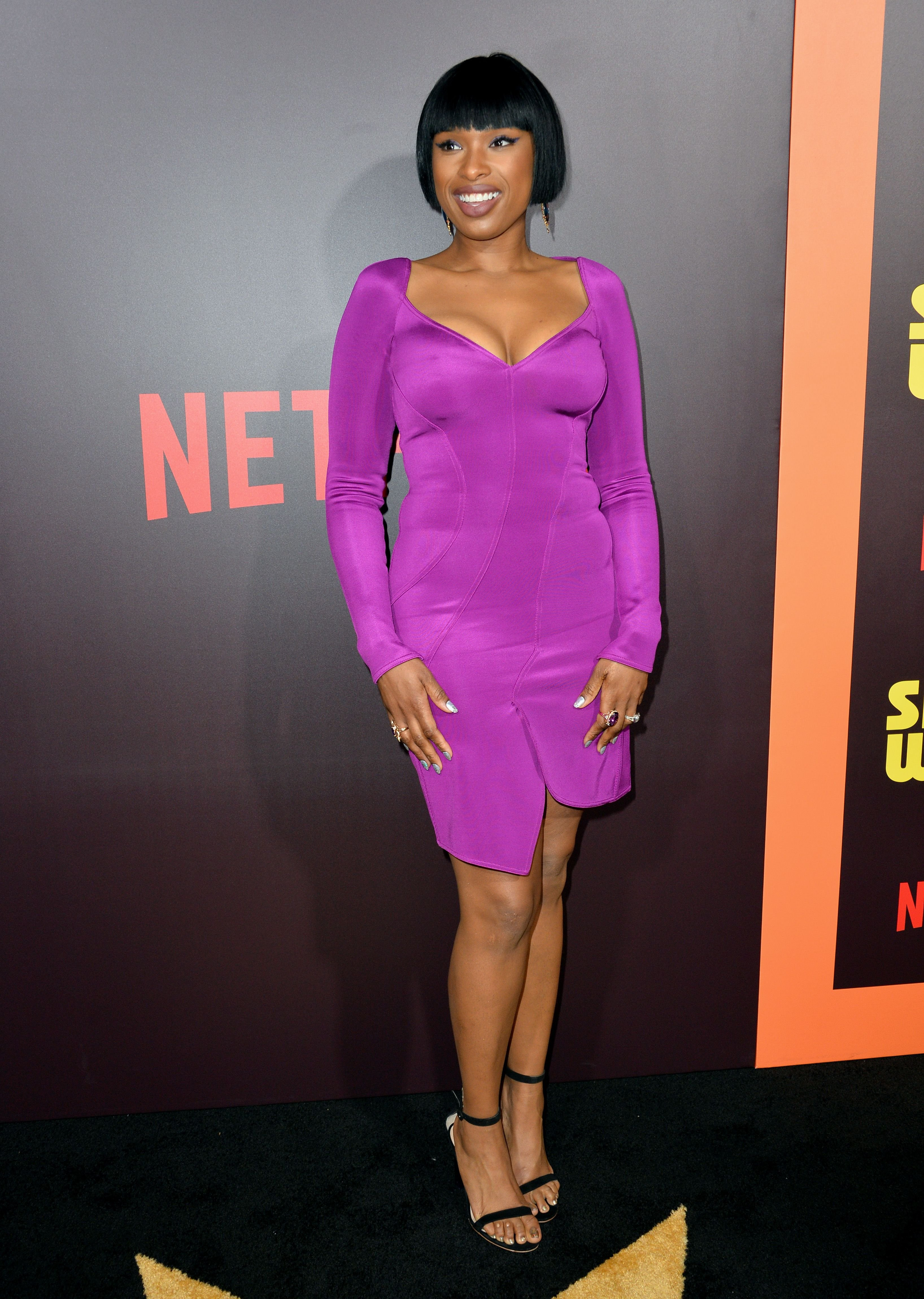 """Jennifer Hudson at the premiere for """"Sandy Wexler"""" in Hollywood. [Date unspecified]   Source: Shutterstock"""