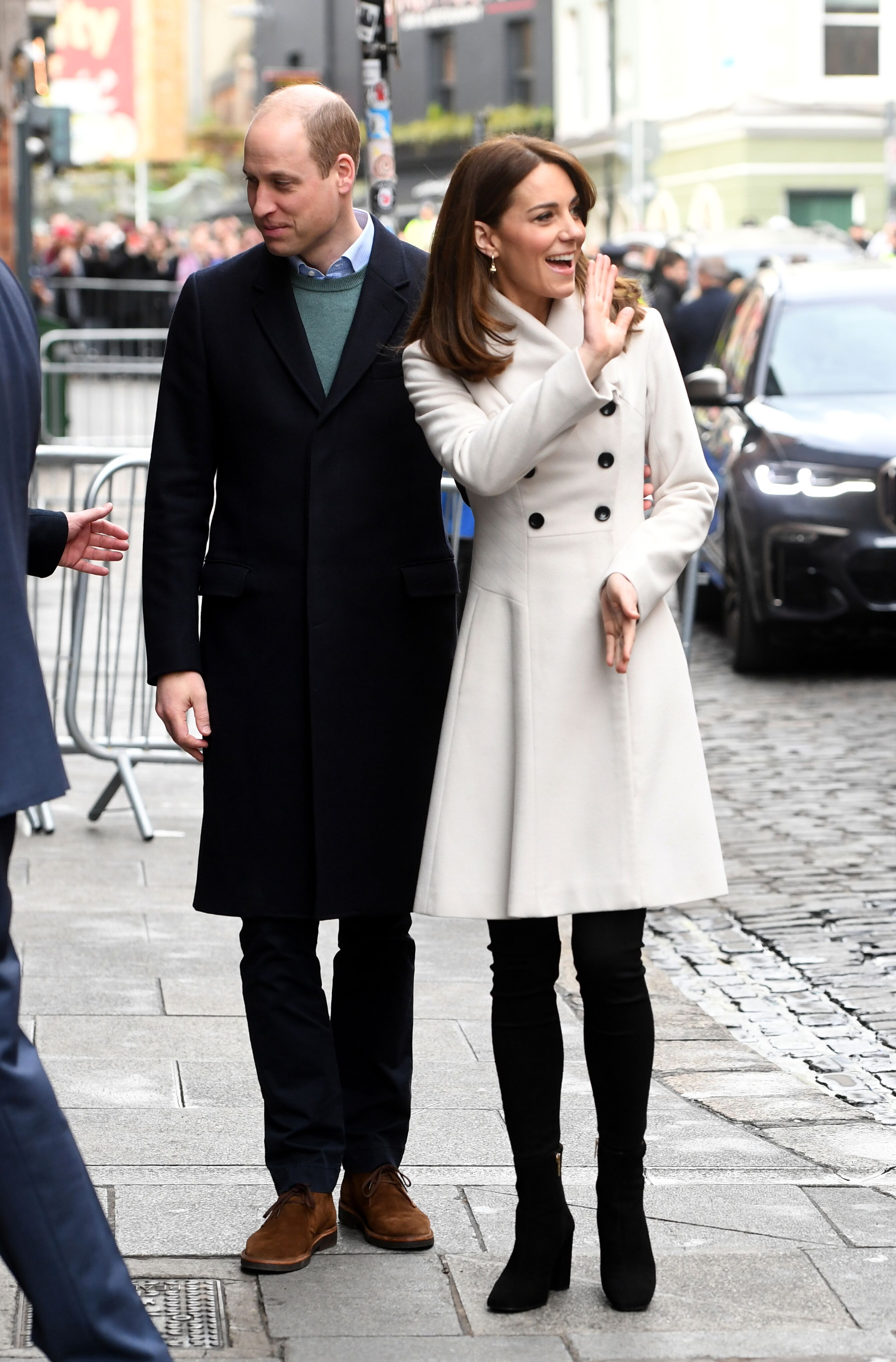 Prince William and Duchess Kate visit Jigsaw during day two of their visit to Ireland on March 04, 2020, in Dublin. | Source: Getty Images