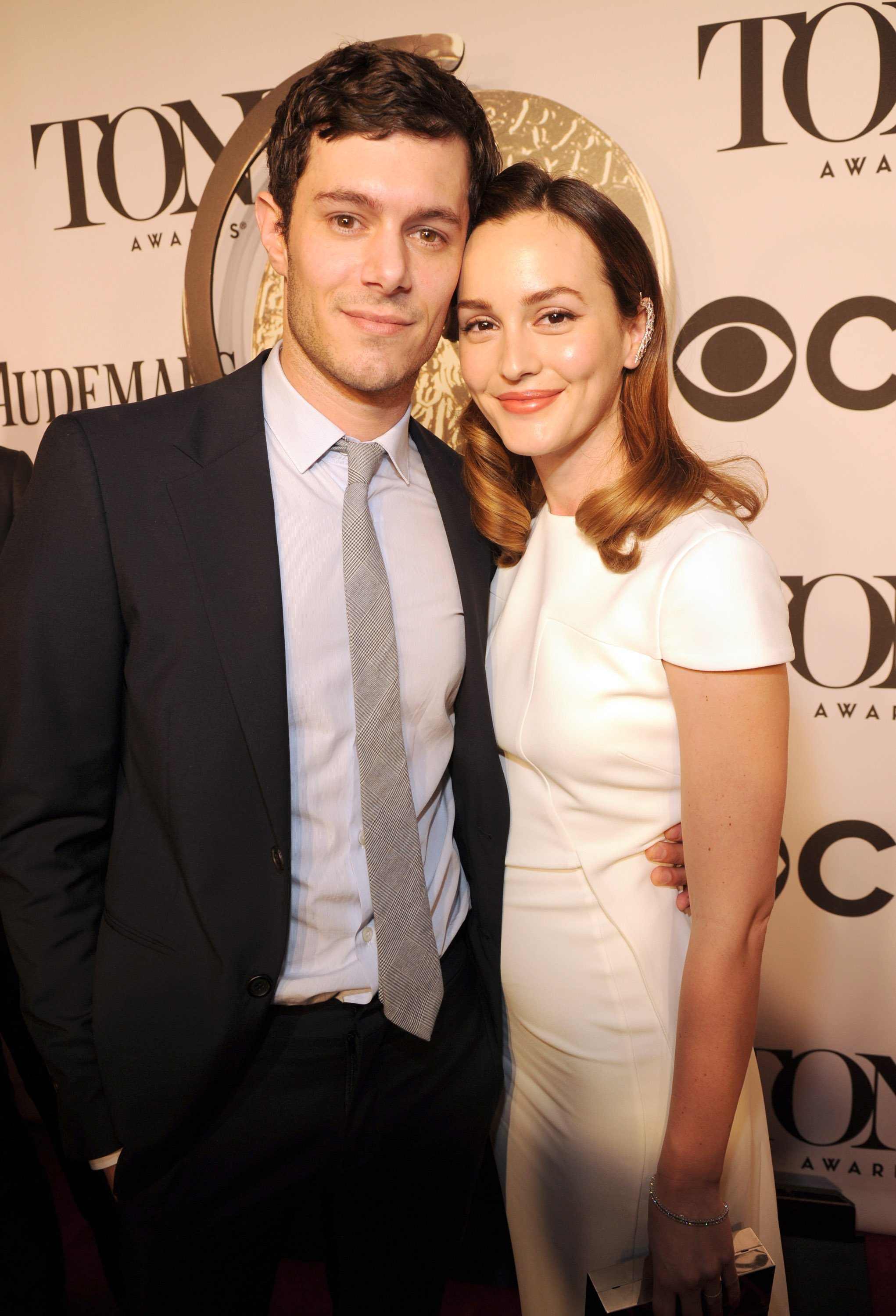 Adam Brody and Leighton Meester at the American Theatre Wing's 68th Annual Tony Awards, June 2014 | Source: Getty Images