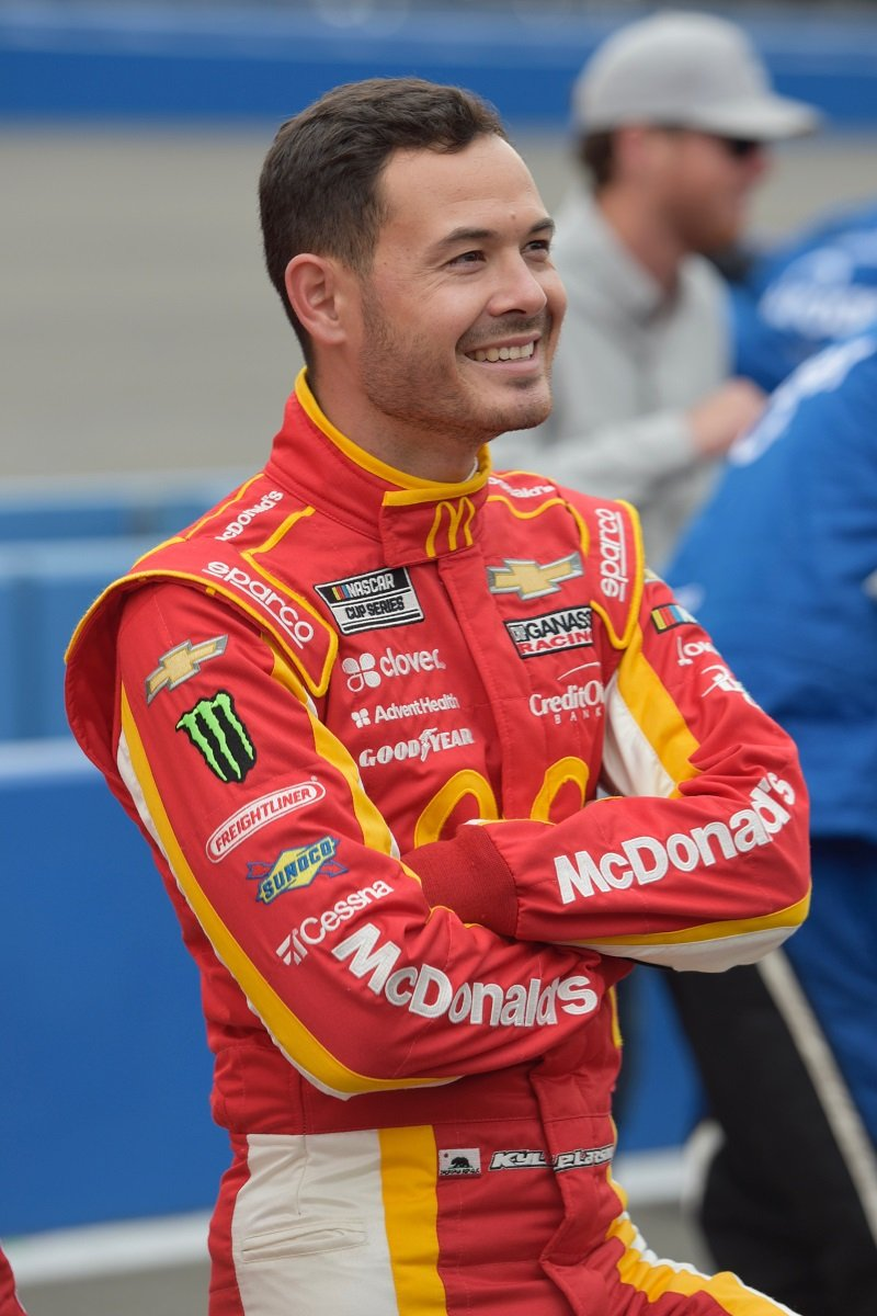 Kyle Larson on March 1, 2020 at Auto Club Speedway in Fontana, California | Photo: Getty Images