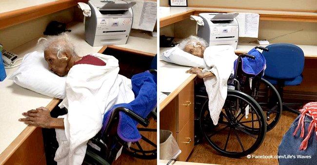 Des photos d'Esther, 80 ans, allongée sur un oreiller, et cherchant désespérément à respirer, ont indigné les internautes