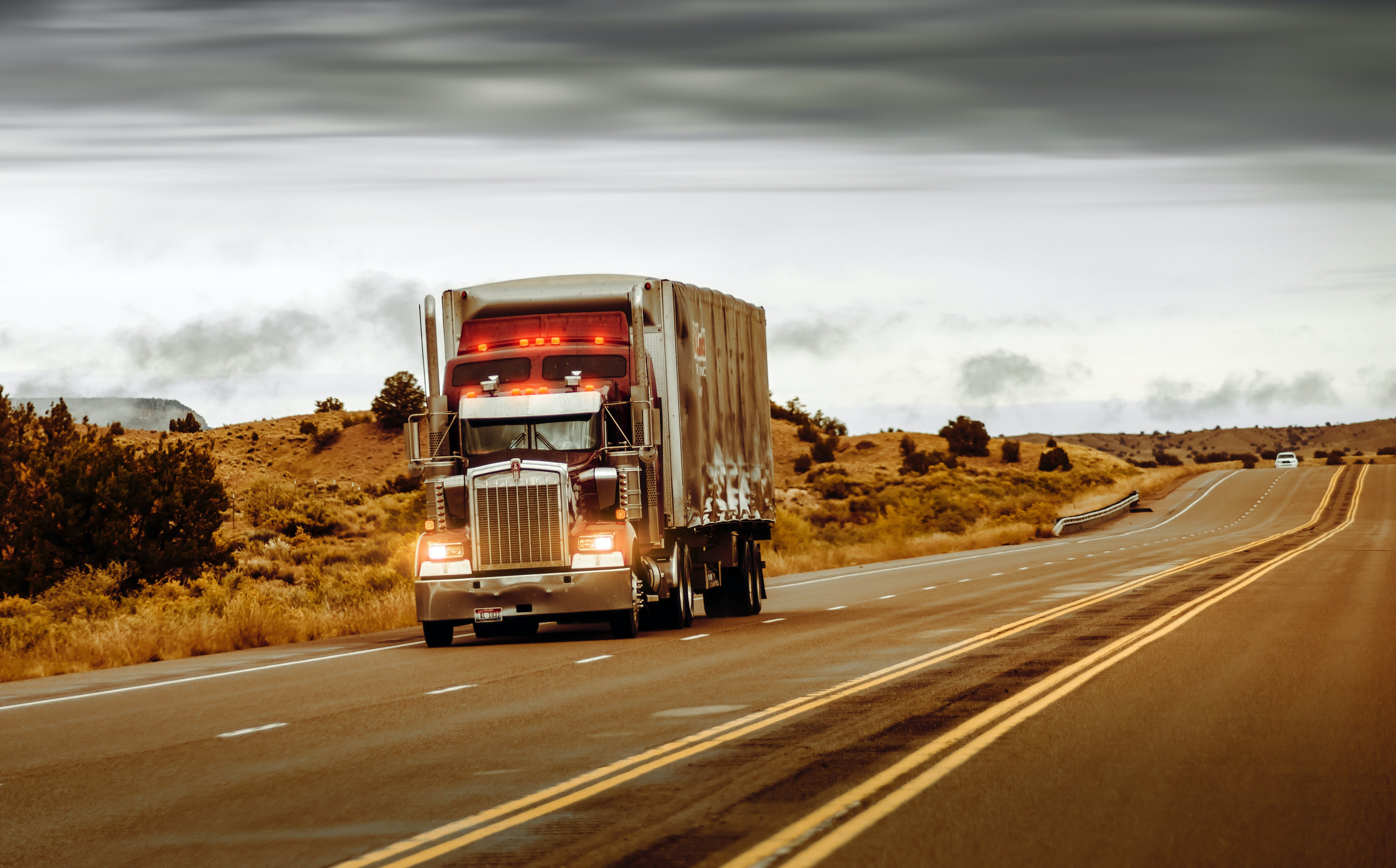 Pictured - An image of a white and brown truck on the road | Source: Pexels