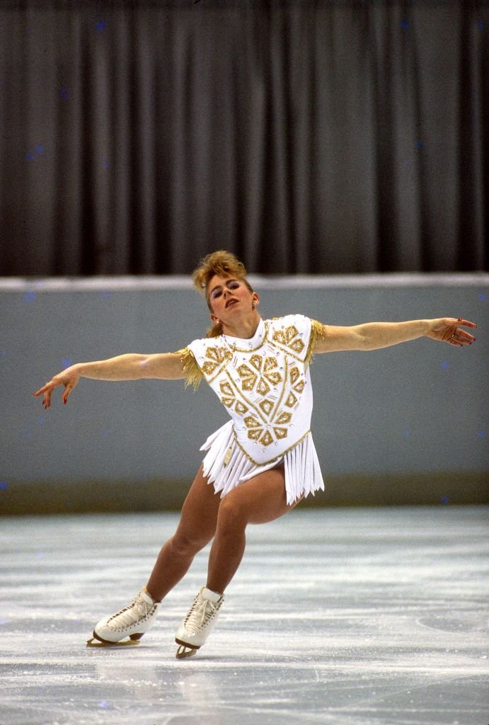 Tonya Harding at the 1992 Albertville Olympic - Free Skating | Source: Getty Images