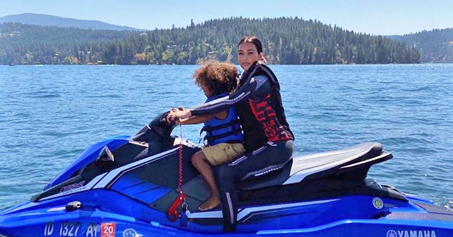 Watch Kim Kardashian's Daughter North West Enjoy Wakeboarding with Family on a Lake