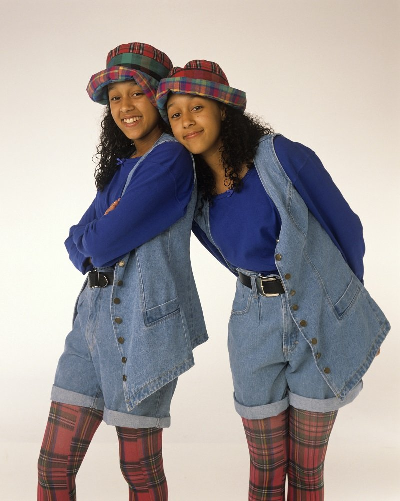 """Promotional photo of Tia Mowry and Tamera Mowry for """"Sister, Sister,"""" on October 6, 1993 
