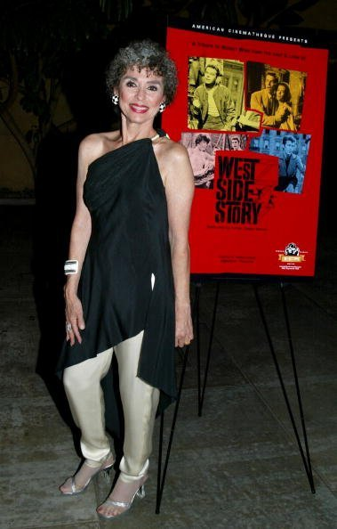 Rita Moreno attends the American Cinematheque screening and cast and crew reunion of 'West Side Story' at the Egyptian Theatre on October 9, 2002, in Hollywood, California. | Source: Getty Images.