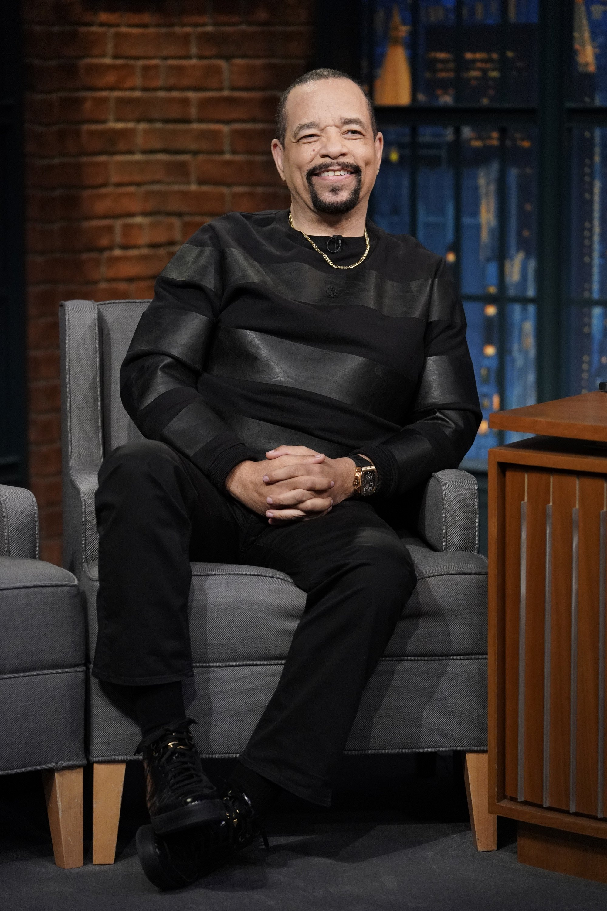 "Ice-T appears on ""Late Night With Seth Meyers"" on April 24, 2018. 