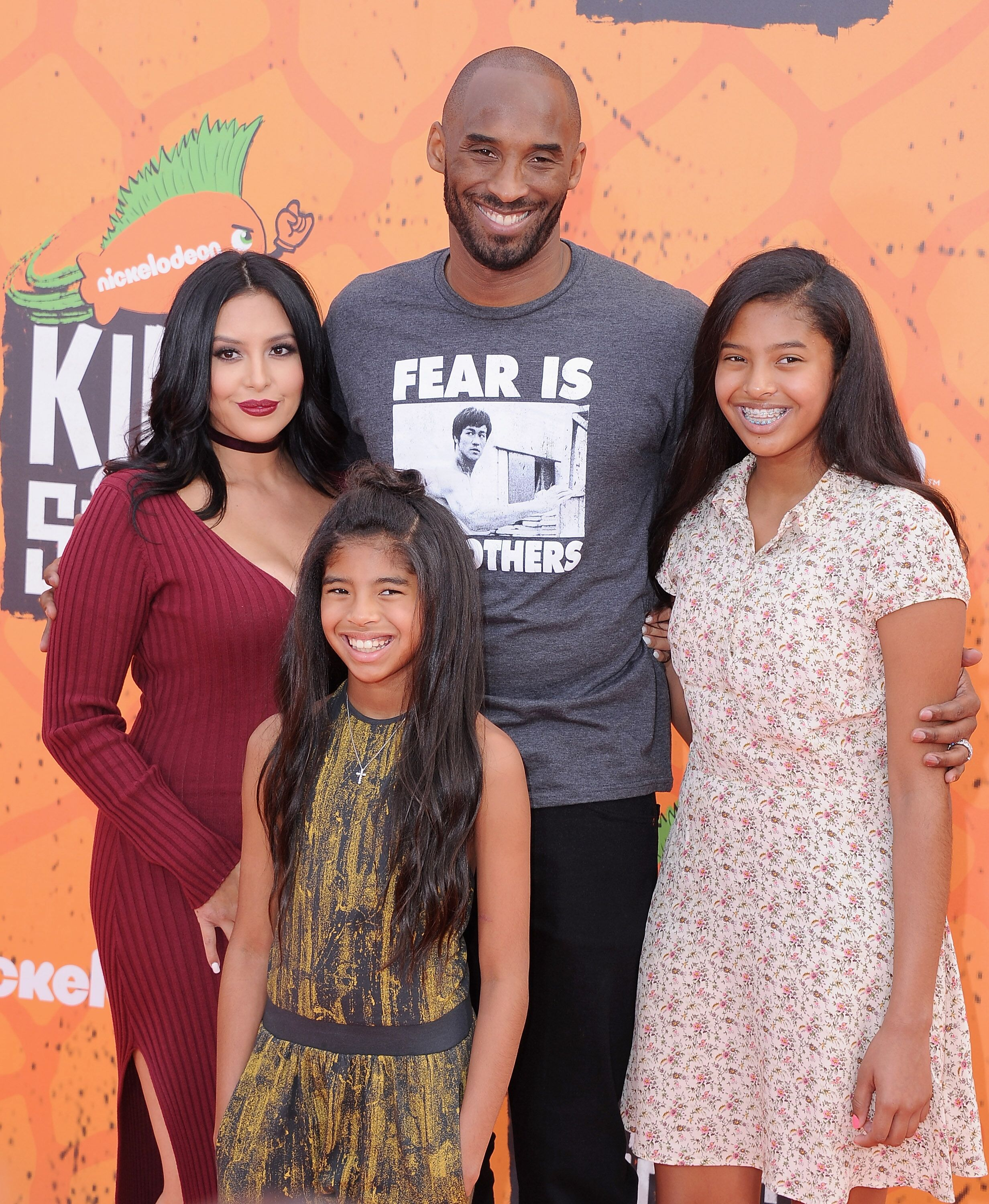 Kobe Bryant, wife Vanessa and daughters Gianna, and Natalia at the Nickelodeon Kids' Choice Sports Awards/ Source: Getty Images