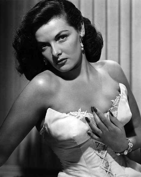 """Jane Russell in a portrait session for the movie """"Montana Belle"""" which was released in November 1952 