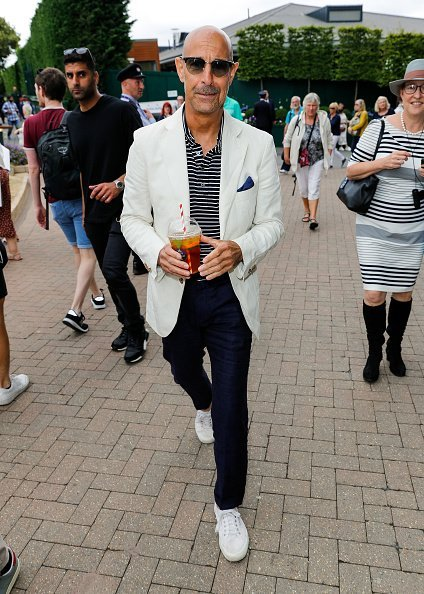 Stanley Tucci at the All England Lawn Tennis and Croquet Club on July 14, 2019 in London, England   Photo: Getty Images