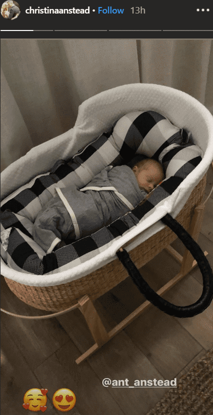 Christian Anstead shares picture of her son Hudson sleeping in a bassinet | Source: instagram.com/christinaanstead
