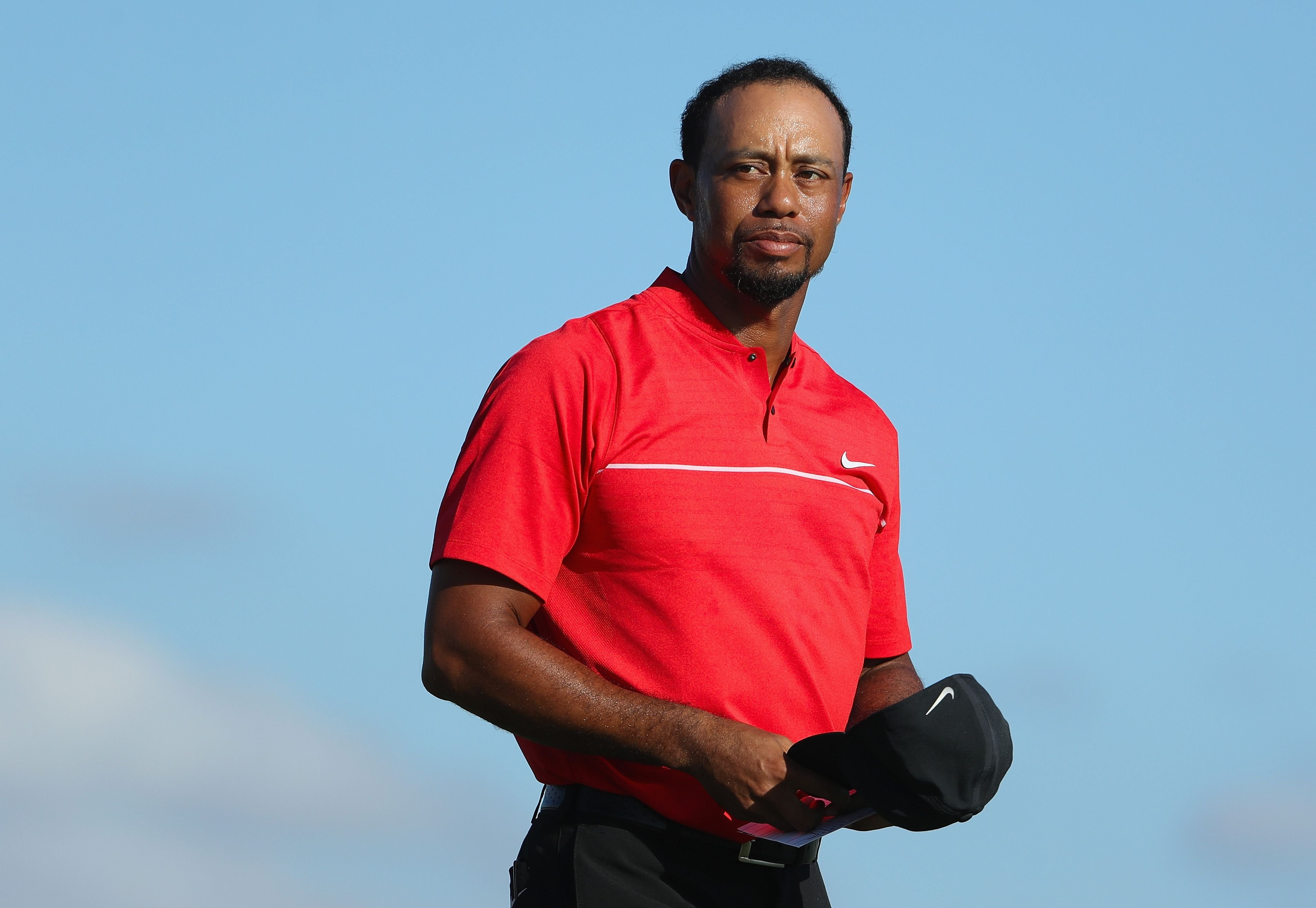 Tiger Woods during the 18th hole during the final round of the Hero World Challenge on December 4, 2016, in Nassau, Bahamas. | Source: Getty Images