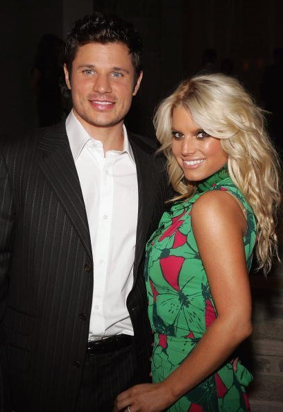 Jessica Simpson and Nick Lachey at Michael Chow's residence November 17, 2005 in Beverly Hills, California. | Photo: Getty Images