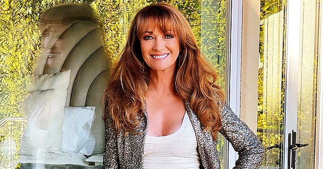 Bond Girl Jane Seymour, 70, Stuns Sporting a Slinky Dress She Paired with a Chic Sequin Blazer