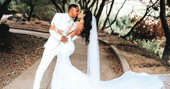 Marques Houston & His Wife Miya Wore Cool Matching T-Shirts as They Spent Time at the Beach