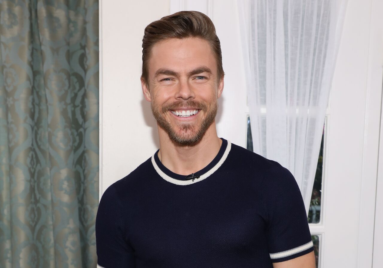 "Derek Hough visits Hallmark's ""Home & Family"" at Universal Studios Hollywood in Universal City, California 