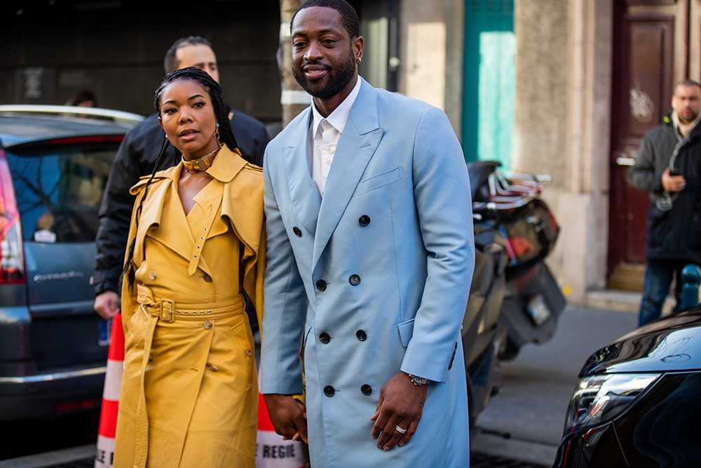 Dwyane Wade and Gabrielle Union during Paris Fashion Week on January 19, 2020 in Paris, France. I Image: Getty Images.