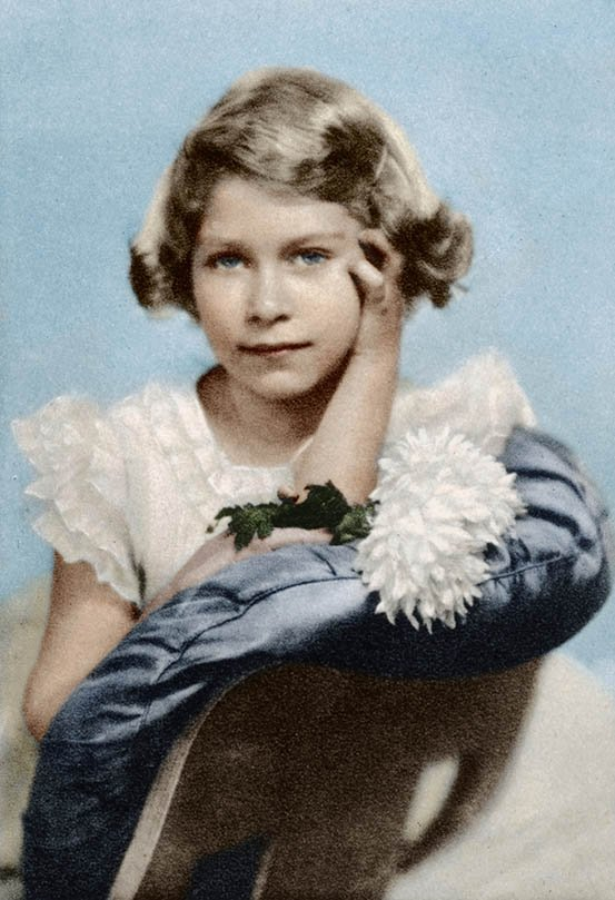 Queen Elizabeth II as a child. I Image: Getty Images.