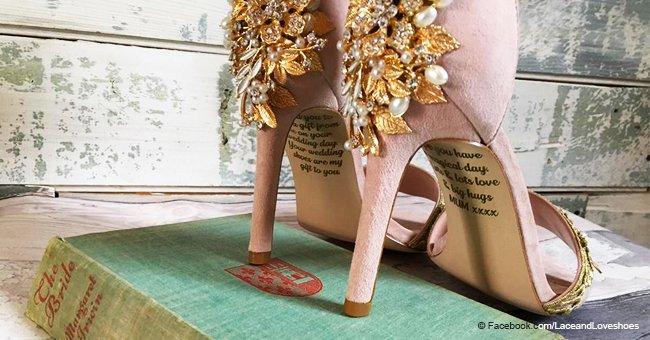 Mamá agonizante deja un desgarrador último mensaje en los zapatos de boda de su hija