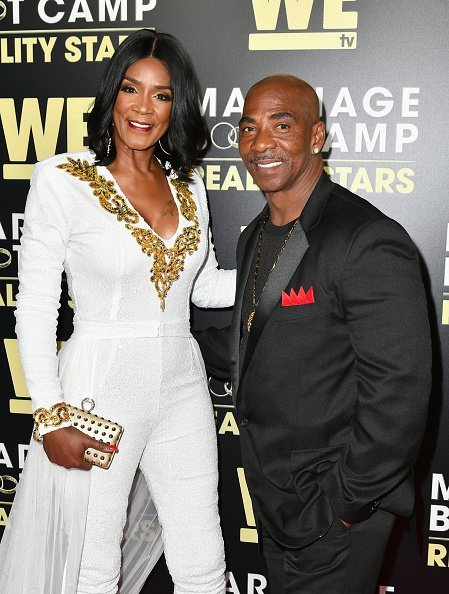 """Momma Dee and Ernest Bryant at the premiere of WE tv's """"Marriage Boot Camp Reality Stars"""" in West Hollywood.