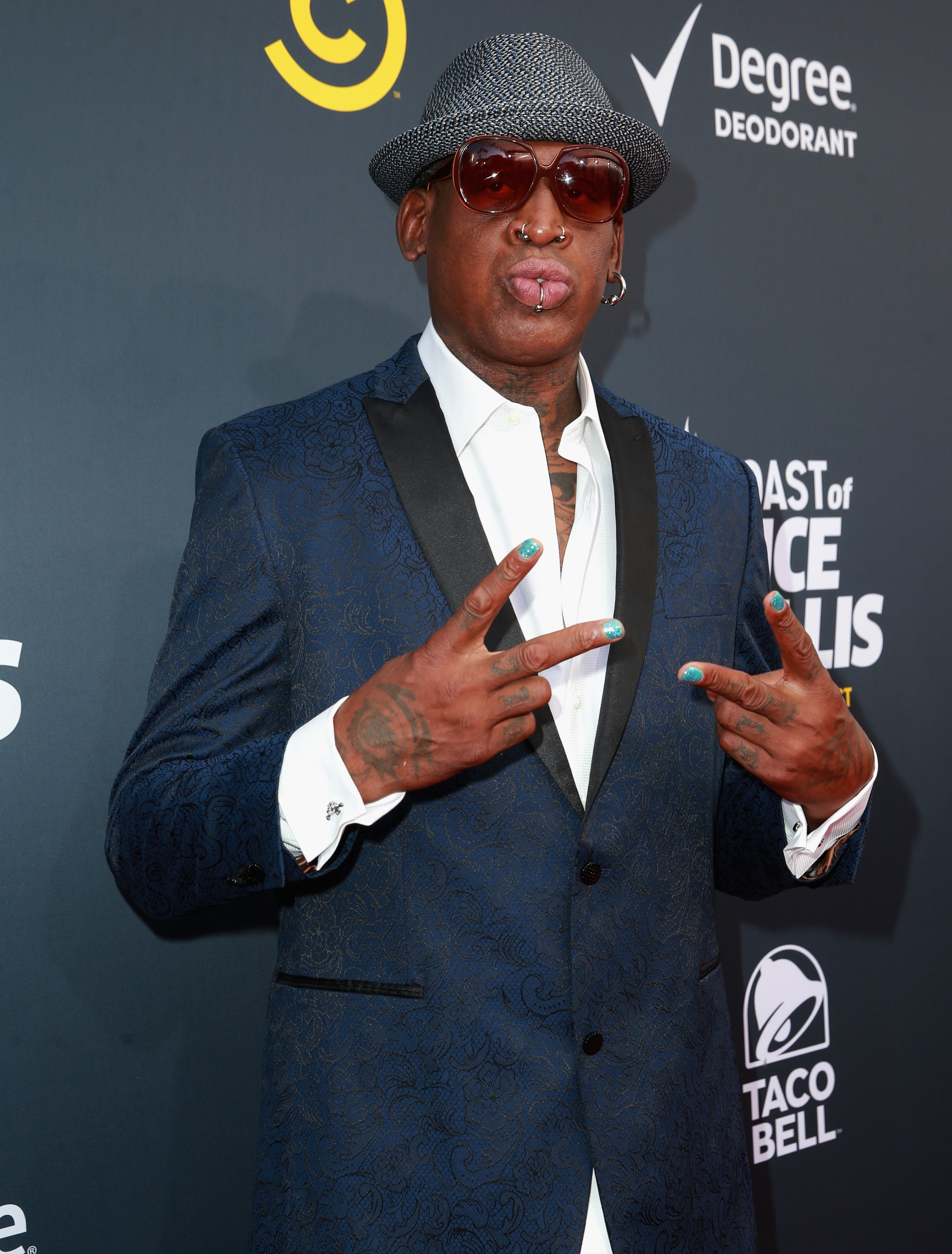 Dennis Rodman attends the Comedy Central Roast of Bruce Willis at Hollywood Palladium on July 14, 2018 in Los Angeles, California. | Source: Getty Images