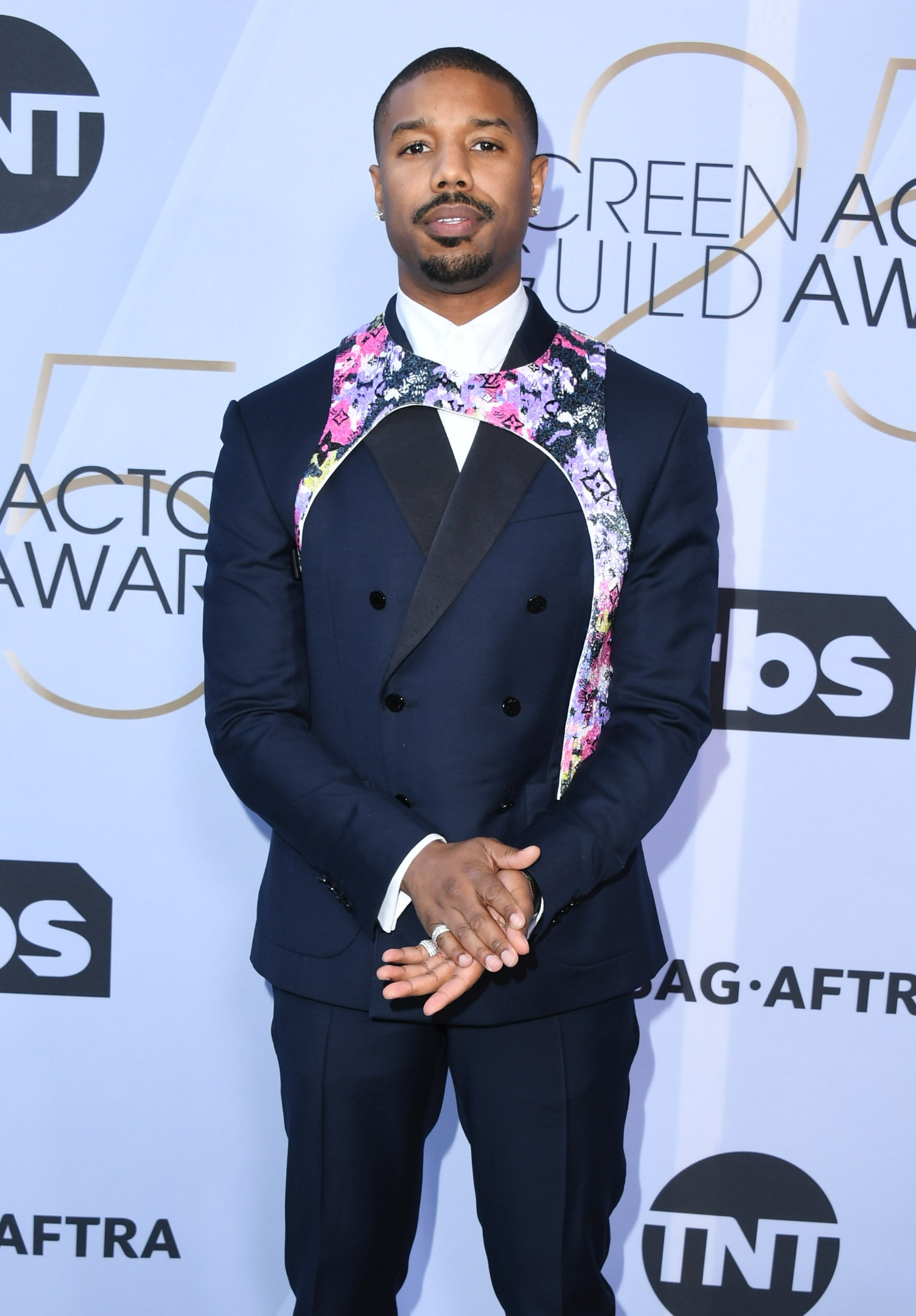 Michael B. Jordan at the 25th Annual Screen Actors Guild Awards in California on Jan. 27, 2019 | Photo: Getty Images