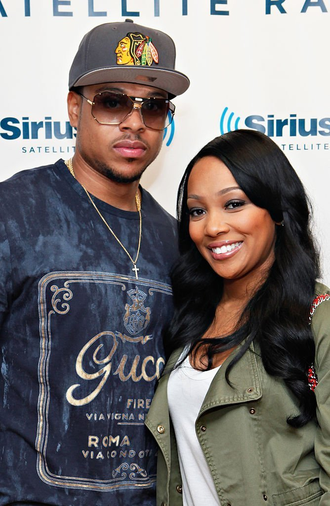 Shannon Brown and Monica visit SiriusXM Studio on August 8, 2012 in New York City. | Source: Getty Images
