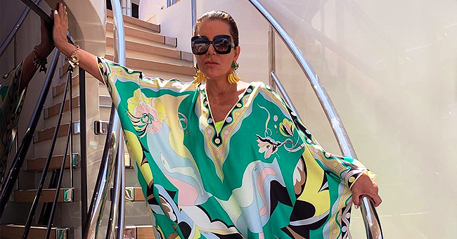 See Kris Jenner Pose in Colorful Dress on Yacht during Kylie's 22nd Birthday Trip