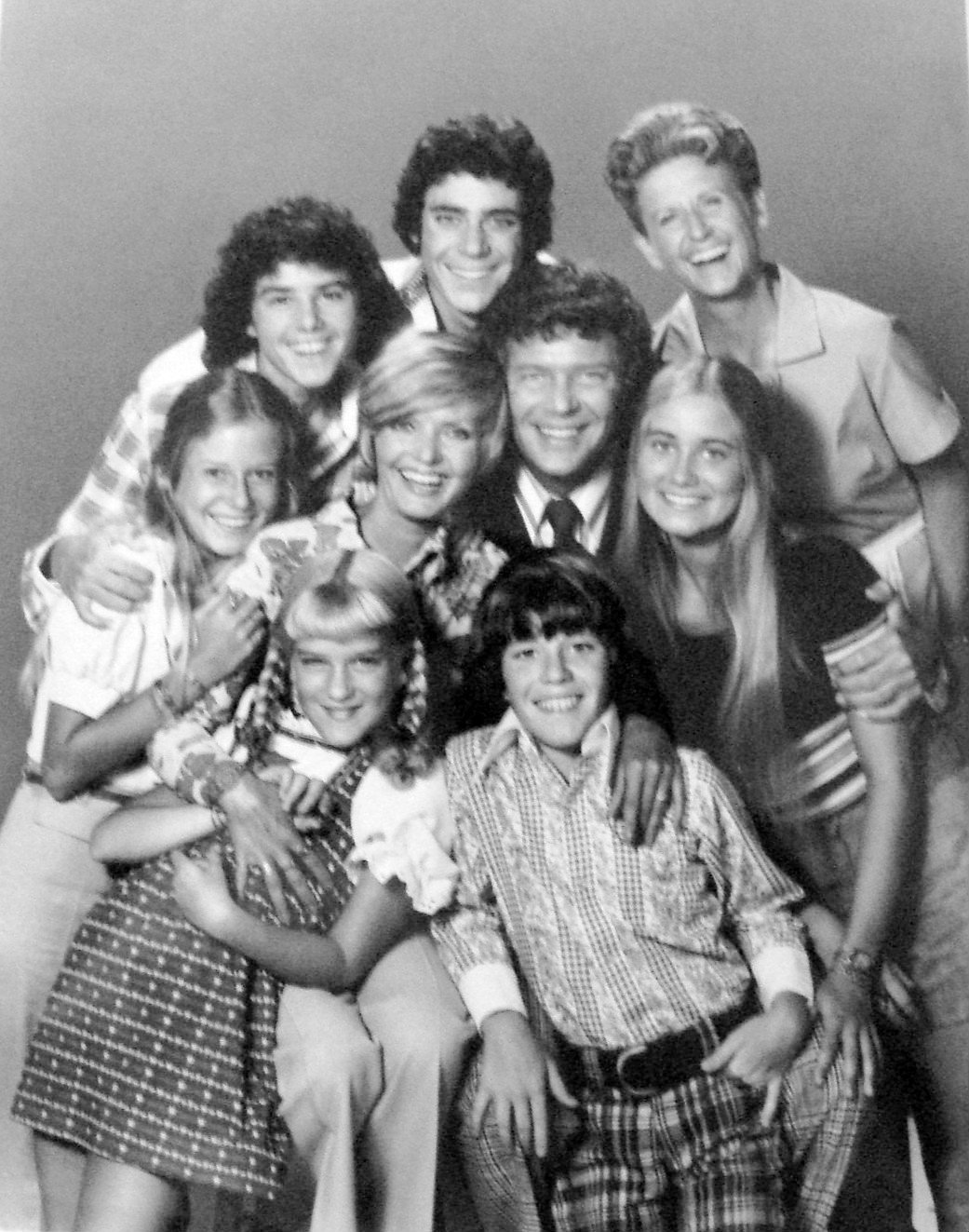 "Cast photo from the television program ""The Brady Bunch"" 