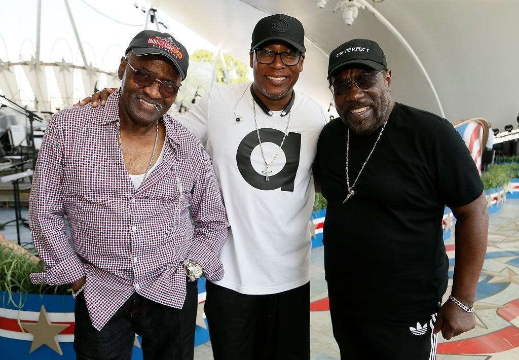 Walter Williams, Eric Grant and Eddie Levert of The O'Jays perfom during A Capitol Fourth rehearsals on the West Lawn of the U.S. Capitol Building   Source: Getty Images