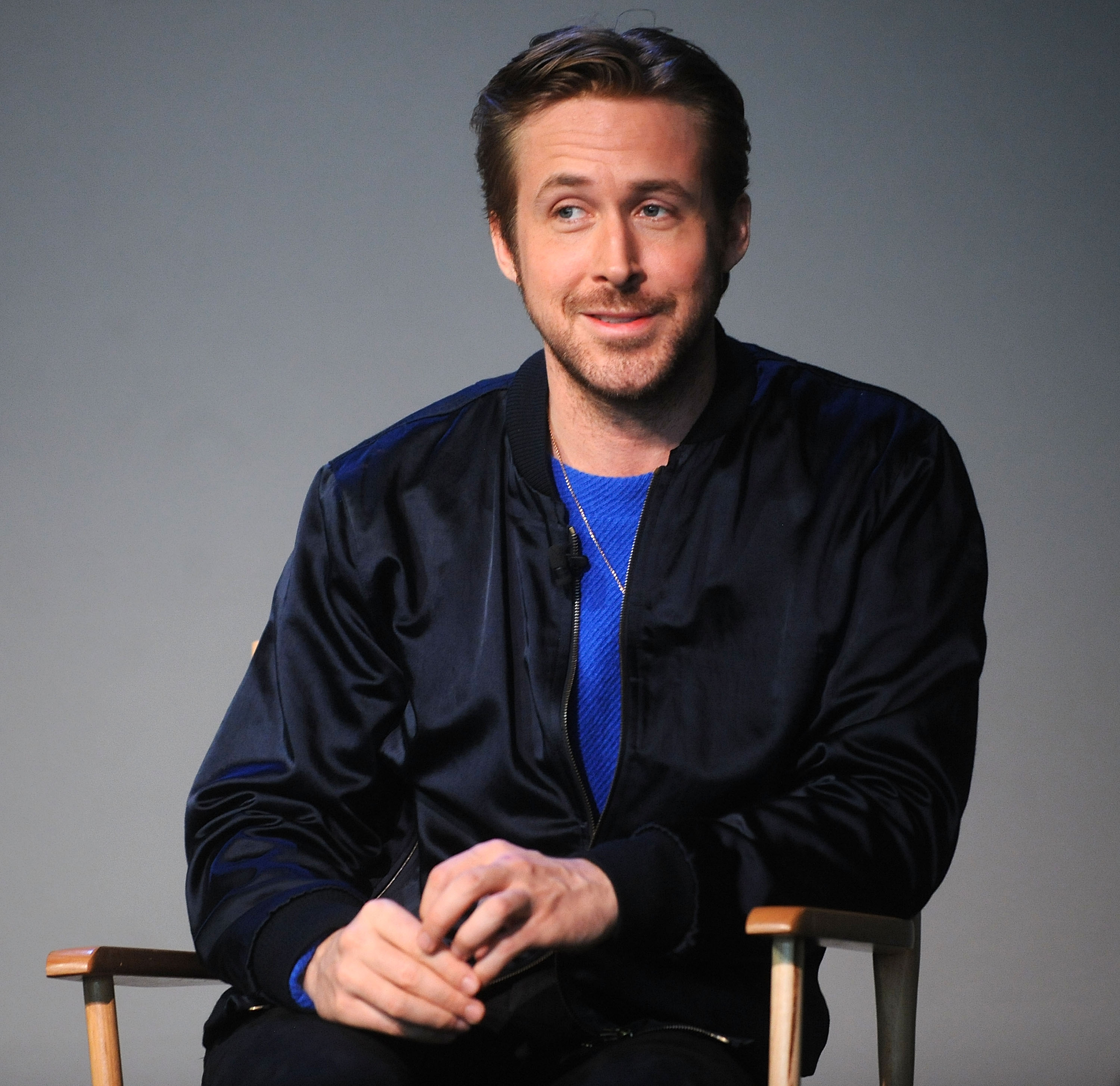 """Ryan Gosling attends Apple Store Soho Presents Meet The Filmmaker: Ryan Gosling, """"Lost River"""" at Apple Store Soho on April 11, 2015 in New York City 