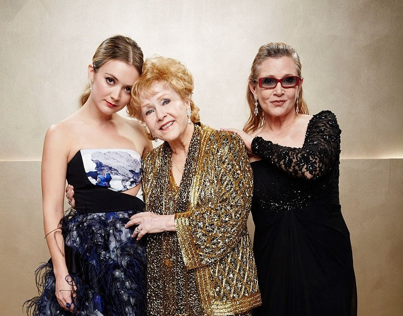 Billie Lourd, Carrie Fisher and Debbie Reynolds on January 25, 2015 in Los Angeles, California | Photo: Getty Images