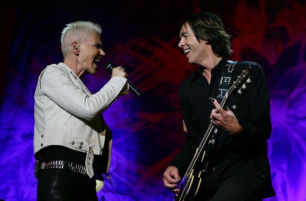 Marie Fredriksson and Per Gessle of Roxette perform on stage during their concert at Sydney Entertainment Centre on February 16, 2012 | Photo: GettyImages