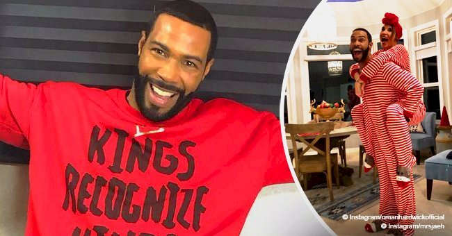 Omari Hardwick's wife shares Christmas pic with the actor & slams those criticising their marriage
