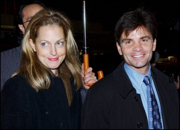 "George Stephanopoulos and wife at Premiere of ""The Shipping News"" at the Ziegfeld Theatre in New York, United States on December 17, 2001 