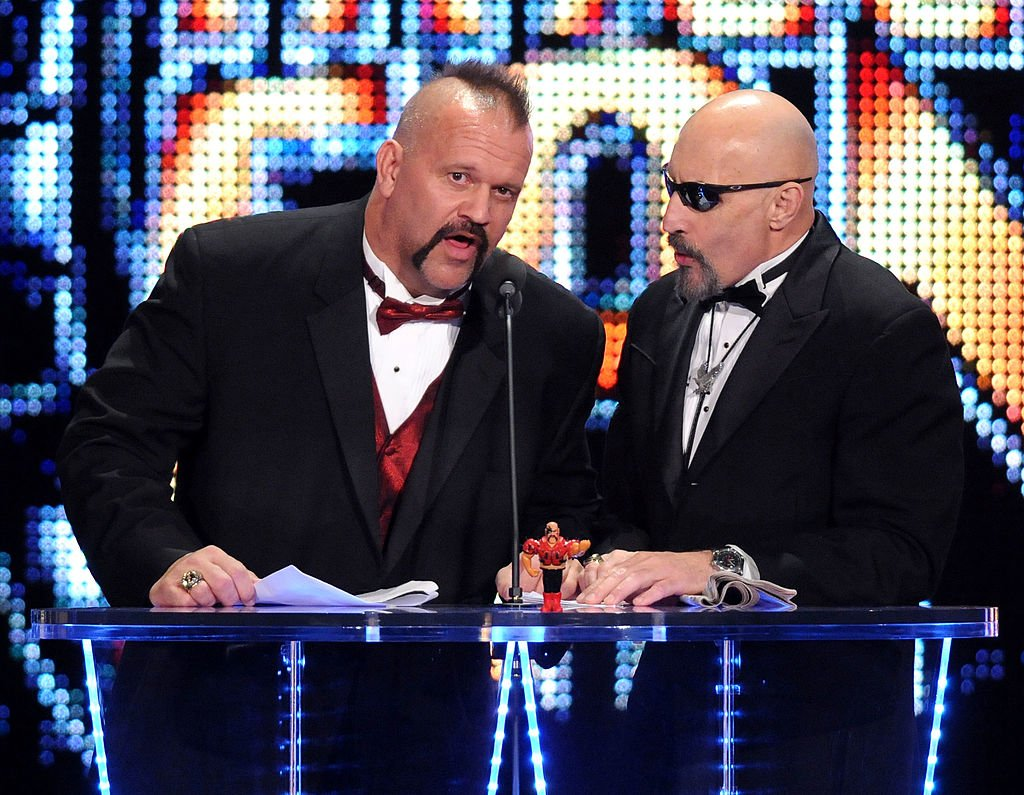 Road Warrior Animal and manager Paul Ellering attend the WWE 2011 Hall Of Fame Induction at Philips Arena on April 2, 2011. | Photo: Getty Images