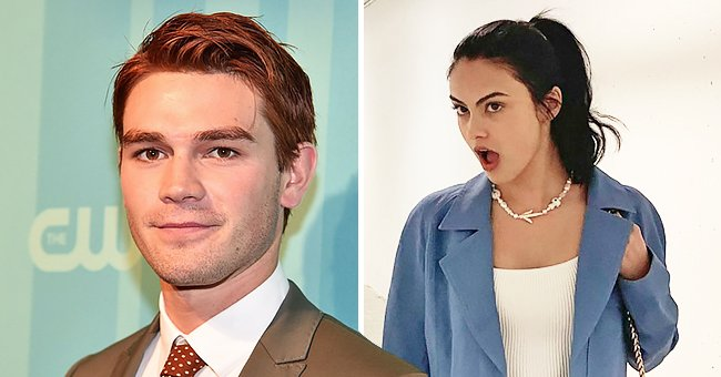 KJ Apa on May 18, 2017 in New York City and Camila Mendes' Instagram post from | Photo: Getty Images - Instagram/camimendes
