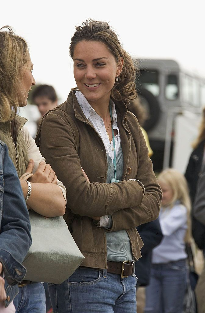Kate Middleton at the second day of the Gatcombe Park Festival of British Eventing on August 6, 2005, near Tetbury, England   Photo: Anwar Hussein/Getty Images