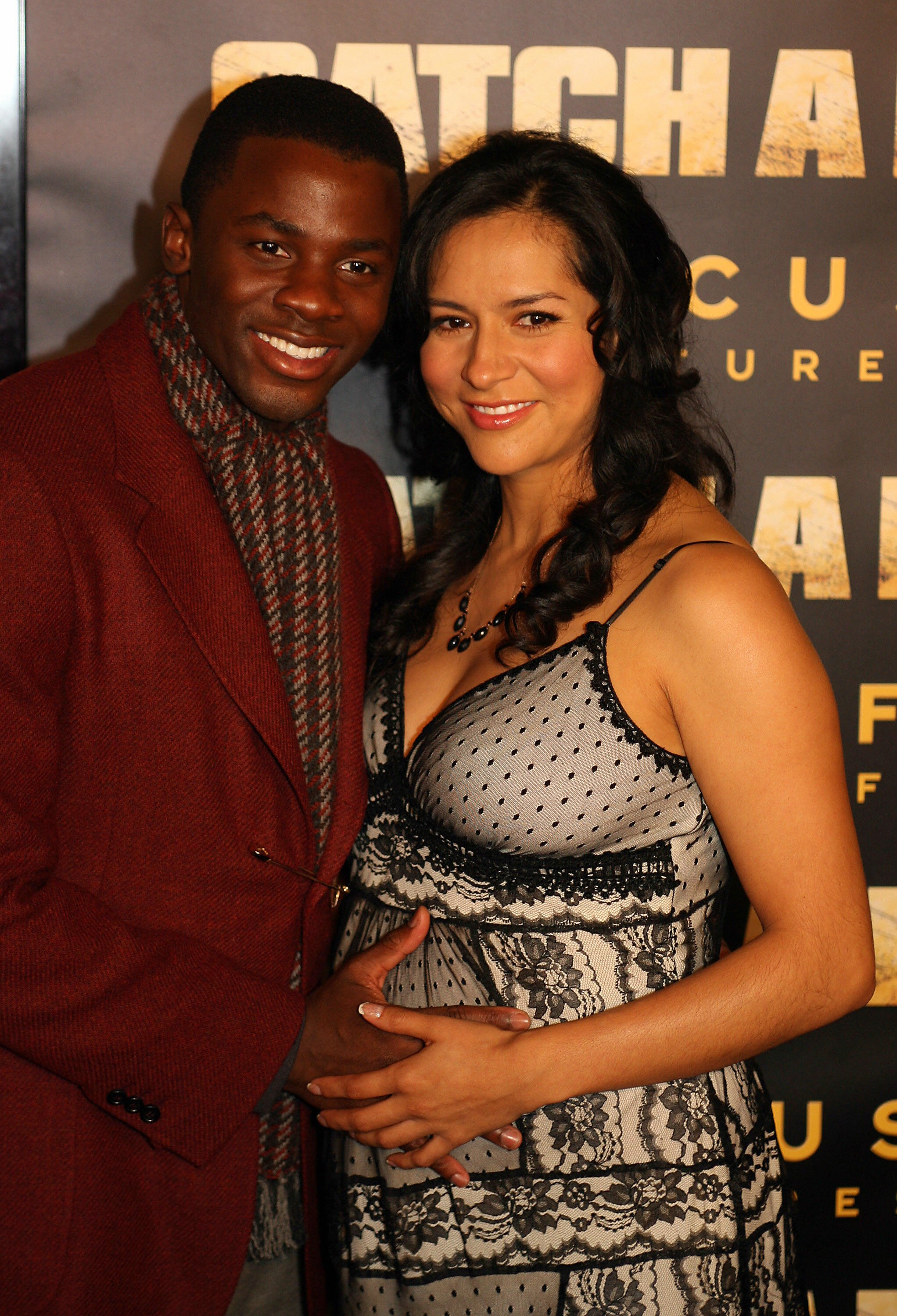 """Derek Luke and his wife Sophia Adella Hernandez at the premiere of """"Catch a Fire,"""" in Hollywood, October 25, 2006   Photo: Getty Images"""