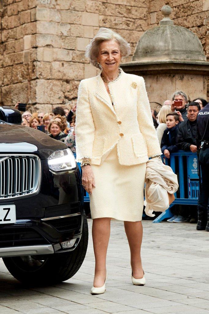 La Reina Sofía en la Misa de Pascua el 21 de abril de 2019 en la Catedral de Palma de Mallorca, España.   Imagen: Getty Images