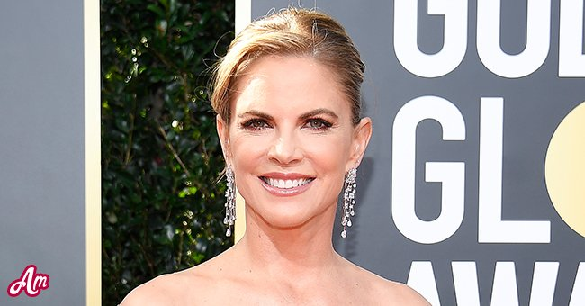 A picture of Natalie Morales at Golden Globes red carpet   Photo: Getty Images