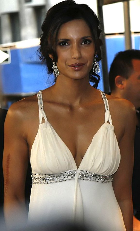 A portrait of actress and cookbook author Padma Lakshmi taken on September 25, 2006. | Source: Wikimedia Commons