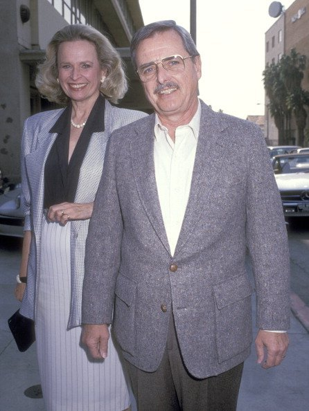 Bonnie Bartlett and William Daniels at the Cocktail Party to Celebrate the 10th Anniversary of Roe vs. Wade on January 22, 1989 | Photo: Getty Images