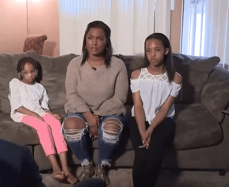 Screenshot of Summer Grant  and her daughters, Summaia and Summara. Photo: YouTube/WKYC Channel 3