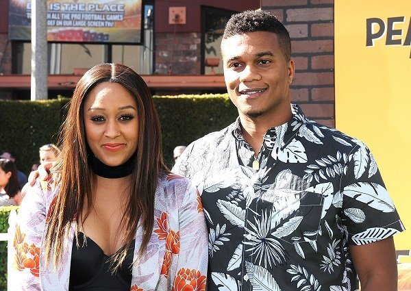 Tia Mowry and Cory Hardrict on November 1, 2015 in Westwood, California | Source: Getty Images